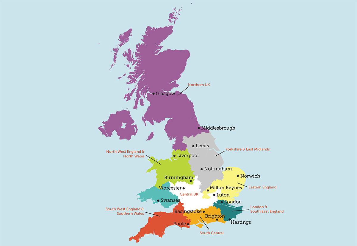 Map Of Uk Councils.Branch And Regional Councils Foresters Financial