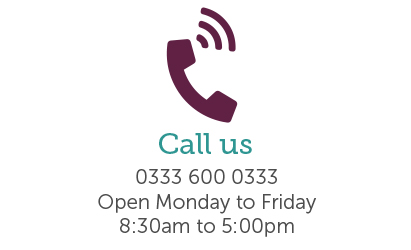 Call Us icon showing the phone number and the opening hours of Foresters customer services team.